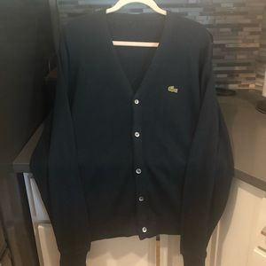 Lacoste- Authentic Navy Blue Button Down Cardigan